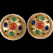 Yosca 1980s Byzantine Revival Earrings