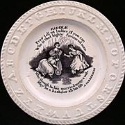 SALE ABC Rare Pearlware Plate ~ CLERGYMAN 1840