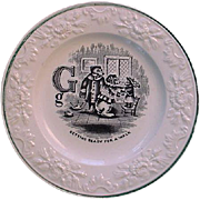 SALE Pearlware Alphabet G Plate ~ The Three Bears 1840