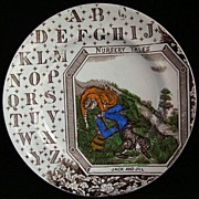 SALE Antique ABC Plate ~ JACK and JILL 1880