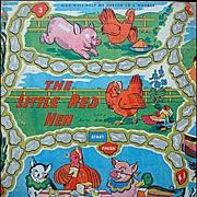 SALE Framed Early Original Game Board ~ Little Red Hen