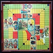 SOLD Original Wood Framed Game Board ~ Punch & Judy 1890