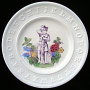 SALE Antique ABC Pearlware Plate ~ APRIL 1840