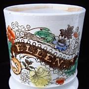 SALE Pearlware Child's  Mug ~ ELLEN 1840