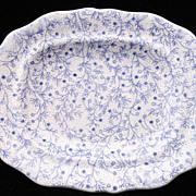 SALE Rare Pearlware Miniature Platter ~ Berry Vines c1835