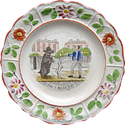SALE Creamware Reward Plate ~ For a Good Boy 1820