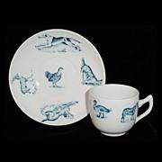 SALE Victorian Childs Animals 2pc Tea Set ~ ZOO ANIMALS Pig Turkey Duck Dog