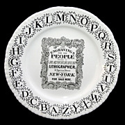 SALE ABC Advertising Plate ~ CURRIER & IVES Lithographer