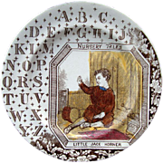 SALE English ABC Plate ~ Little Jack Horner 1880