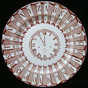 SALE Alphabet Plate ~ Clock, Numbers and Calendar 1880