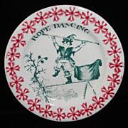 SALE Toy Spongeware Spatter Transfer Garden Games Gymnastics c1830 Staffordshire