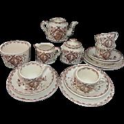 SALE Childs Aesthetic Transferware Tea Set ALASKA  Whittaker & Co Staffordshire England 1885