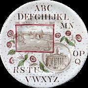 SALE Antique ABC Plate ~ London & Dublin 1880