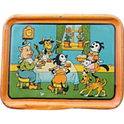 SALE Scarce KRAZY KAT Tin Litho Tea Set Tray c1925 Dressed Animals