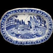 SALE Staffordshire Historical Childs Miniature Toy Dinner Set Tureen KITE FLIER 1820