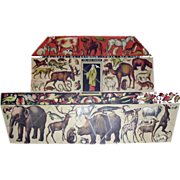 SOLD Rare c1878 Noahs Ark Animals Puzzle Natural History Lyman New York Figural