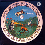 SALE SCARCE Nursery Rhymes Comic Tales Magic Lantern Slide Set c1900
