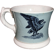 SALE Early Slip Decorated Childs Transferware Mug ~ American Eagle & Dairy Cow ~ 1840