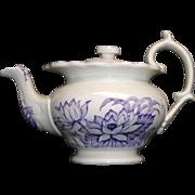 SALE Child Purple Mulberry TEAPOT Lotus Water Nymph 1865 H&W Staffordshire Tea Set