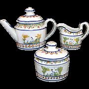 SALE Extremely Rare Miniature Pratt Relief Decorated Pearlware Tea Set c1800