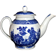 SOLD Rare Childs Teapot Pearlware Chinoiserie BOY ON BUFFALO Staffordshire c1800