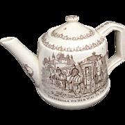 SALE Rare Childs Transferware Teapot ~ Cinderella to the Ball Glass Slipper c1890
