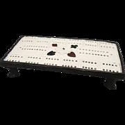 SALE Antique Pearlware Cribbage Game Board c1835 Creamware Staffordshire