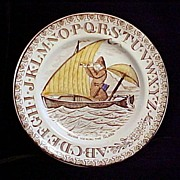 SALE ABC Plate ~ Crusoe Viewing The Island
