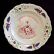 SALE Staffordshire Child's Plate ~ Eagle Border