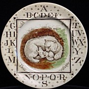 SALE ABC Plate ~ Polar Bear Endanged Species 1880