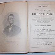 SALE Salesman Sample 1865 History of the Civil War, Samuel M. Schmucker