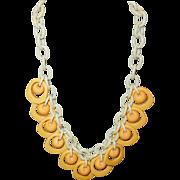 Vintage Butterscotch Bakelite Necklace on Celluloid Chain