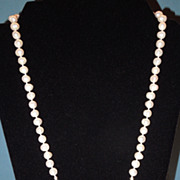 Freshwater Potato Pearl Necklace with Vintage Czech Centerpiece
