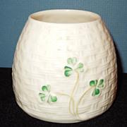 Irish Belleek Honey Pot