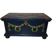 SALE Early 1900's Miniature Hand Painted German Chest