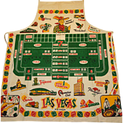Vintage 1950's-early 60's Las Vegas Apron (Never used)