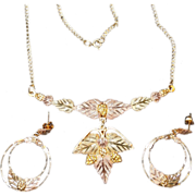 Vintage Black Hills Gold Necklace and Earrings