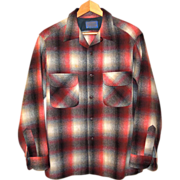 SOLD Vintage Wool Plaid Pendleton Shirt Size Medium