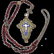 Mid 1800's Bavarian Silver Filigree Rosary