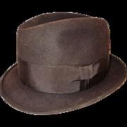 SOLD Vintage Stetson Men's Fedora Hat 7 1/8 Chocolate