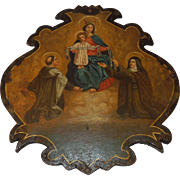 Religious Oil Painting on Metal