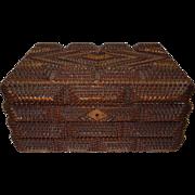 c.1900 Chip Carved Tramp Art Box