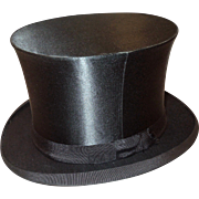 c.1900 Collapsible Silk Top Hat with Case