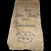 Vintage European Feed/Grain Sack 1934