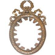 Very Small French Bronze Bow Top Frame c. 1890's