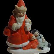 Darling Snowbaby Santa With Children Figurine Marked Germany