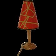 Early 1950's Kahlert Dollhouse Table Lamp #2, Mod Design, Wired w/ Bulb