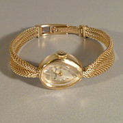 Lucien Piccard 14k Yellow Gold Ladies Watch and Band