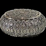 Antique Filigree Lidded Spice Box - Jerusalem ca. 1900
