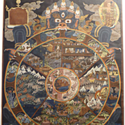 Bhavacakra Thangka - Wheel of Life - Tibetan